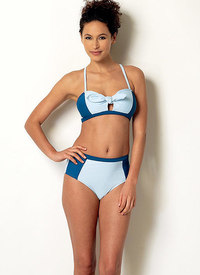 Tie-Detail Bikini and One-Piece Swimsuit. Butterick 6358.