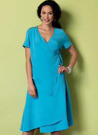 Wrap-Front Dresses with Overlays - Connie Crawford - Connie Crawford - Connie Crawford. Butterick 6359.
