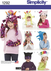 Child´s Hat and Mittens in Three Sizes. Simplicity 1292.