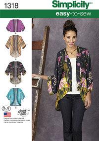 Misses´ Kimono Jackets. Simplicity 1318.