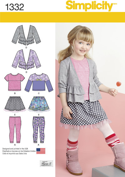 Childs Skirt and Knit Leggings, Top and Cardigan
