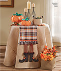 Make great stuffed pumpkins in two sizes, fabric baskets in three sizes, a table cloth and variety of placemats and table runners in everyday or Autumn themes. Simplicity sewing pattern.