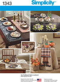 Autumn Table Accessories. Simplicity 1343.