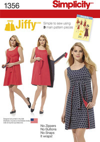 Misses´ Jiffy® Reversible Wrap Dress. Simplicity 1356.