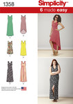 Misses´ Knit Dresses with Length and Neckline Variations
