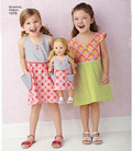 Child´s Dress and Dress for 18 inches Doll