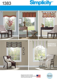 Valances for 36 inches to 40 inches Wide Windows. Simplicity 1383.