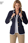 Misses Unlined Jacket with Collar and Finishing Variations