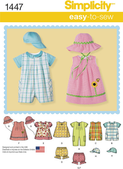 Babies Romper, Dress, Top, Panties and Hats