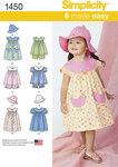 Toddlers Dress, Top, Panties and Hat