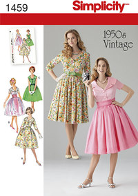 Misses´ and Miss Petite 1950´s Vintage Dress. Simplicity 1459.