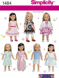 18 inches Doll Clothes. Simplicity 1484.