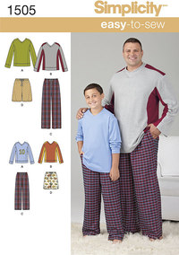 Husky Boys´ and Big and Tall Men´s Tops and Trousers. Simplicity 1505.