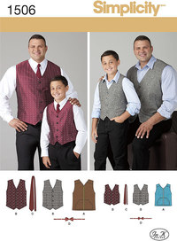 Husky Boys´ and Big and Tall Men´s Vests. Simplicity 1506.