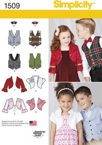 Child´s Vest, Bolero and Bow Tie. Simplicity 1509.