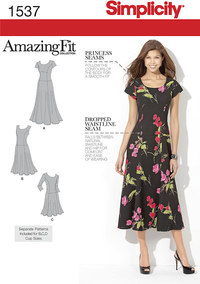 Misses´ and Plus Size Amazing Fit Dress. Simplicity 1537.