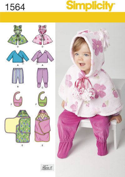 Babies´ Top, Trousers, Bib, and Blanket Wrap