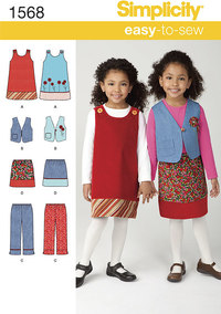 Child´s Jumper, Vest, Trousers and Skirt. Simplicity 1568.