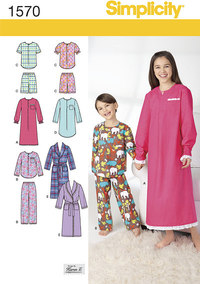 Child´s, Girls´, and Boys´ Loungewear. Simplicity 1570.