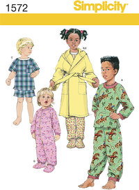 Toddlers´ and Child´s Sleepwear and Robe. Simplicity 1572.