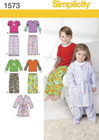 Toddlers´ and Child´s Loungewear. Simplicity 1573.