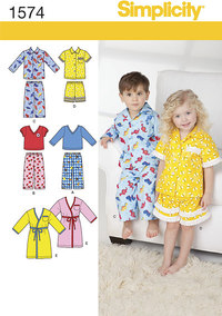 Toddlers´ Loungewear. Simplicity 1574.