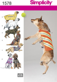Large Size Dog Clothes. Simplicity 1578.