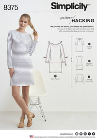 Dress or top with multiple pieces for design hacking. Simplicity 8375.