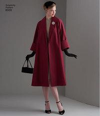 Simplicity 8509. Elegant retro coat.