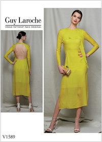Vogue 1589. Misses´/Misses´ Petite Dress - Guy Laroche.