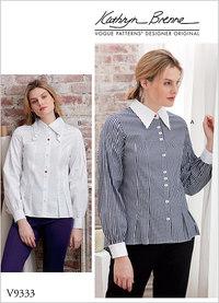 Misses´ Shirt - Kathryn Brenne. Vogue 9333.