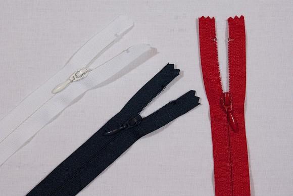 Dress zipper, 4 mm wide, 25 cm long
