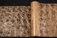 Golden partyrunner-fabric in hairlike polyester checks