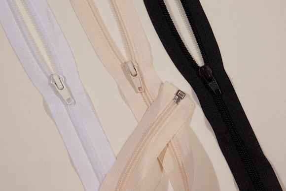 Jacket spiral zipper, dividable, plastic, 6 mm wide, 35 cm long