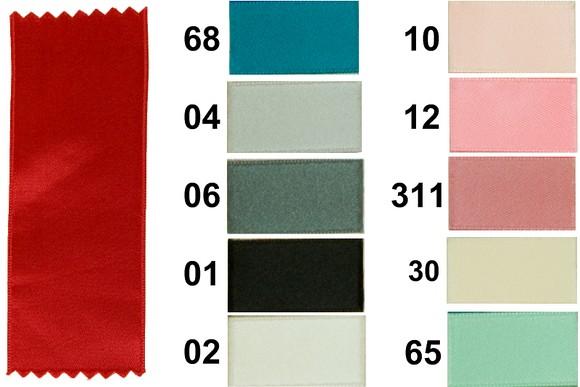 Sateen drape, blue-turqoise-pink, 6 mm width