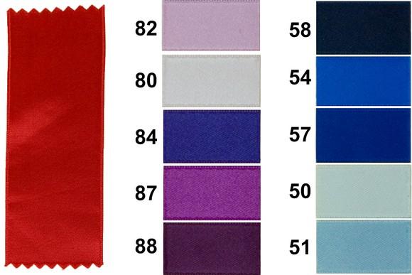 Sateen drapes 25 mm width