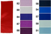 Sateen drapes, blue-purple colors, 16 mm width