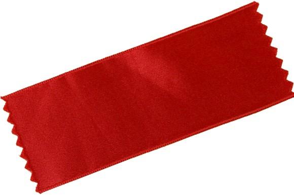 Sateen drapes in red in 100 mm width