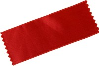 Sateen drapes in red in 100 mm width