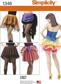 Misses´ Costume Skirts and Bustles. Simplicity 1346.