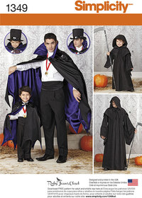 Simplicity 1349. Boys´ and Men´s Capes.