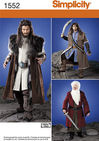 Men´s Medieval Tunic, Cloak, and Accessories. Simplicity 1552.