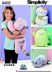 Fleece stuffed cats in all shapes and sizes are a great gifts for your loved ones or yourself. What cat lover would not want them all. Lying flat kitties measure approximately 22 inches (A) and 20 inches (B) long and standing kitties approximately 15.5 in