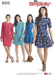 Simplicity 8415. Dresses with Length and Sleeve Variations.