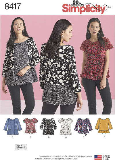 Pullover Tops with Sleeve and Fabric Variations