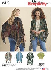 Kimono Style Wrap with Variations. Simplicity 8419.