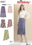 Simplicity 8421. Skirts in Three lengths with Hem Variations.