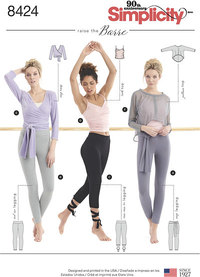 Knit Leggings in Two Lengths and Three Top Options. Simplicity 8424.
