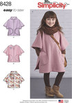Simplicity 8428. Poncho in Two Lengths for children.