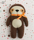 Have fun creating these cute stuffies. Animals include a raccoon, fox, kitten, bear, sloth and penguin. Perfect for felt or fleece fabrics. Add a ribbon or bow to make your stuffy even more adorable. Simplicity sewing pattern.